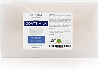 5 LB - GOATS MILK Soap Base by Velona | SLS/SLES free | Melt and Pour | Natural Bars For The Best Result for Soap-making