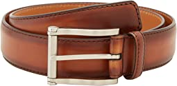 Carbon Cognac Belt