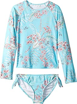 Tahitian Skies Long Sleeve Surf Set (Little Kids/Big Kids)