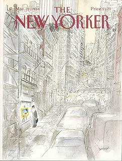 New Yorker cover Sempe Gray man cityscape 3/21 1988