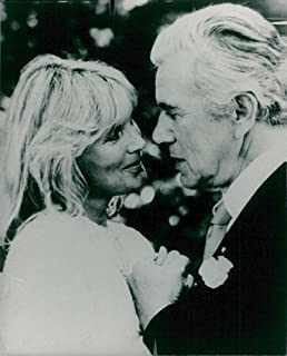 Vintage photo of Linda Evans and John Forsythe in the Dynasty