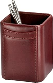 Dacasso Mocha Leather Pencil Cup