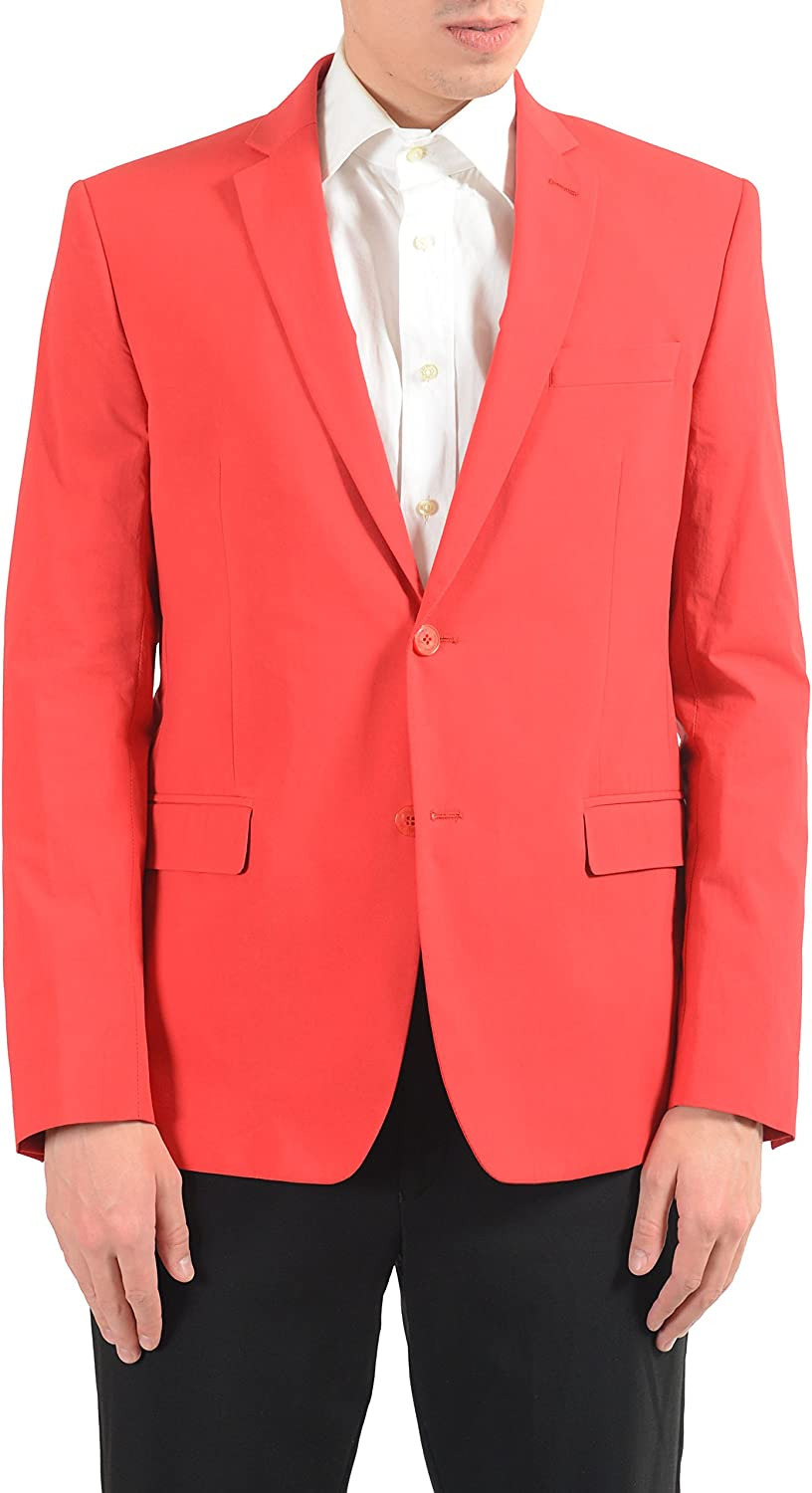 Versace Collection Men's Red Stretch Two Button Blazer Sport Coat Size US 40 IT 50
