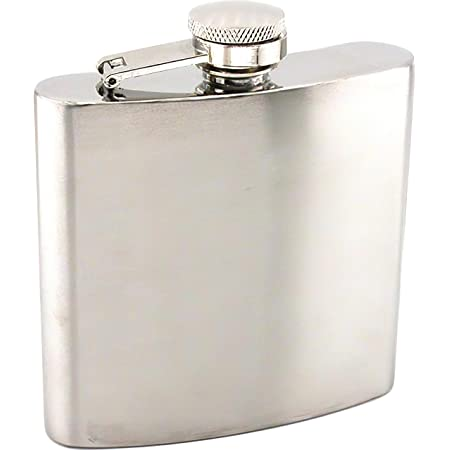 Stainless Steel Hip Flask 6oz Home Kitchen