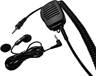 Anteenna TW-52VX7 Remot Speaker Mic With Metal Clip For Two Way Radio For Standard Yaesu VX6/VX7/VX170/177 Radio 1 Pin Heavy Duty Speaker Microphone 1 Pc Free For Ear Phone Only ( Only Listen )