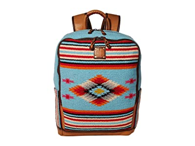 STS Ranchwear Saltillo Backpack (Light Blue/Orange/Pink) Backpack Bags