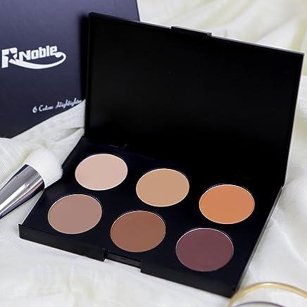 R Noble Contour Palette, Highlighter & Matte- Bronzer & Highlighter Kit & Makeup, 6 Color, Powder Concealer + Contour + Corrective Powder