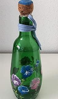 MaJe ceramista botella decorada con petunias multicolor ...