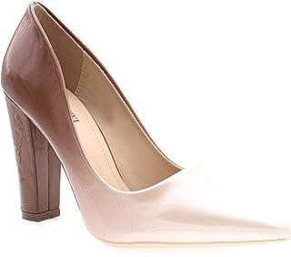 69481d53670712 Escarpin Femme Verni - Chaussure Mode Escarpin Slip-on Multicolore Effet  Dégradé - Talon Haut