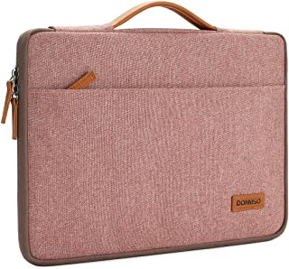 DOMISO Classic - Funda para portátil con asa rosa rosa 17-17.3 inch