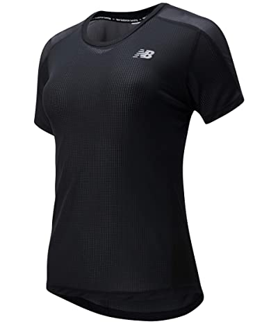 New Balance Impact Run Short Sleeve (Black) Women
