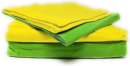 Tache Home Fashion DC46PC-YGC 4-6 Pieces Reversible Duvet Set, California King, Yellow