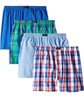 Active Blend Woven Boxer 4-Pack