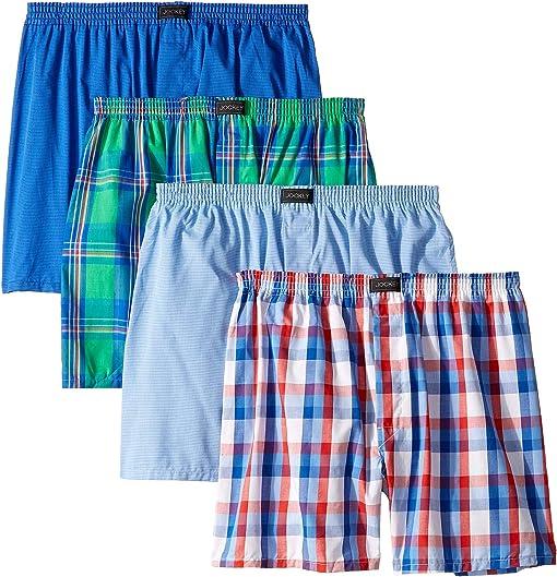 Bold Plaid/Stripe Blue/Check/Stripe