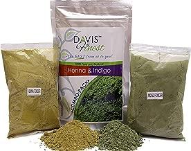 Henna Indigo Powder For Hair Color Black Brown & Beard Dye for Men – 100g Henna & 100g Indigo (200gm)