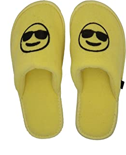 MF Emoji Slippers Smiling Face with Sunglasses Winter Slippers for Boys Kids