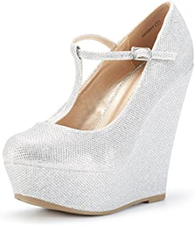 Mary Jane Platform Wedges Shoes for Women
