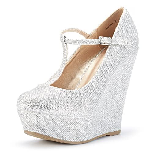 03c1ddf5123 DREAM PAIRS Mary Jane Platform Wedges Shoes for Women