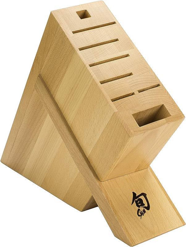 Shun DM0838 Kickstand Knife Block 8 Slot 3 1 X 9 1 X 11 1 Inches Brown