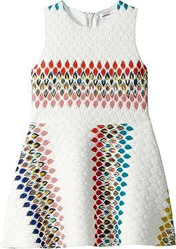 Raschel Detailed Neoprene Dress (Toddler/Little Kids)