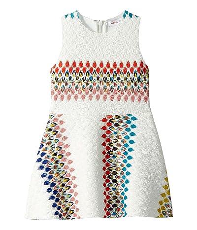Missoni Kids Raschel Detailed Neoprene Dress (Toddler/Little Kids) (White) Girl