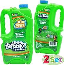 JOYIN 2 Refill Bubble Solutions; (up to 5 Gallon) Big Bubble Solution 64 Ounce Concentrated Solution for Bubble Machine, Easter