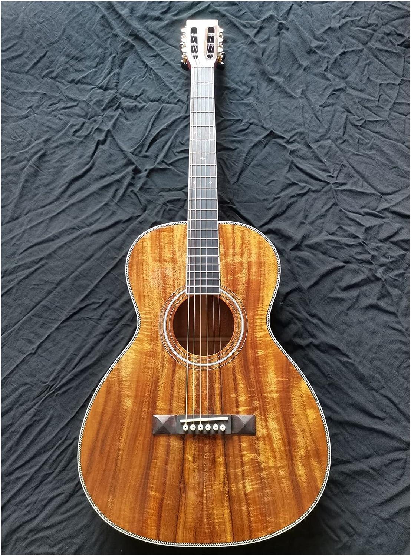 Guitarra 38 pulgadas Parlor Guitar Slot Head Pequeño cuerpo guitarra profesional sólido acústica guitarra acústica OO Guitarra acústica adecuada para jugadores en todas las etapas. guitarra de madera