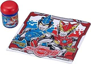 OSK röd/blå handduk: cirka 32 × 29 cm, fodral: diameter på cirka 6,3 × höjd 9,1 cm Ultraman Lube handduksset OC-1