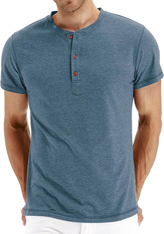 Sailwind Mens shopping Henley Luxury goods Long Short T-Shirt Sleeve Shi Cotton Casual