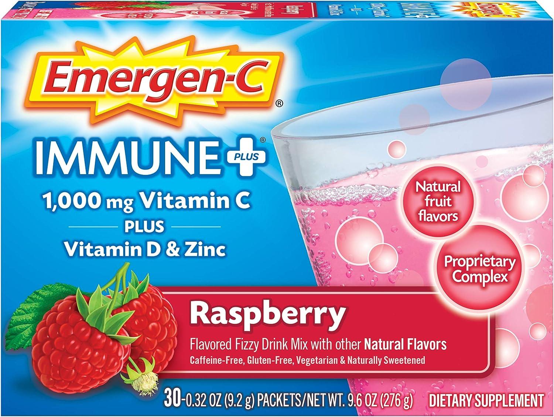 Emergen-C Immune+ Indefinitely 1000mg Vitamin C D with Powder Popular Zinc