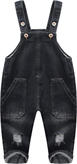 Cute 2 Big Leg Pockets Baby Toddler Ripped Casual Jeans Overalls