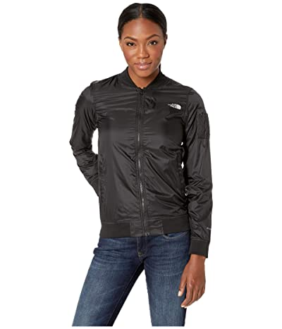 The North Face Meaford Bomber Jacket (Shiny TNF Black) Women