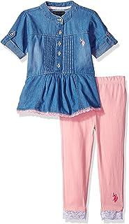 U.S. Polo Assn. Conjunto de Blusa y Leggings para niñas