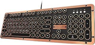 Azio Retro Classic USB (Artisan) - Luxury Vintage Backlit Mechanical Keyboard