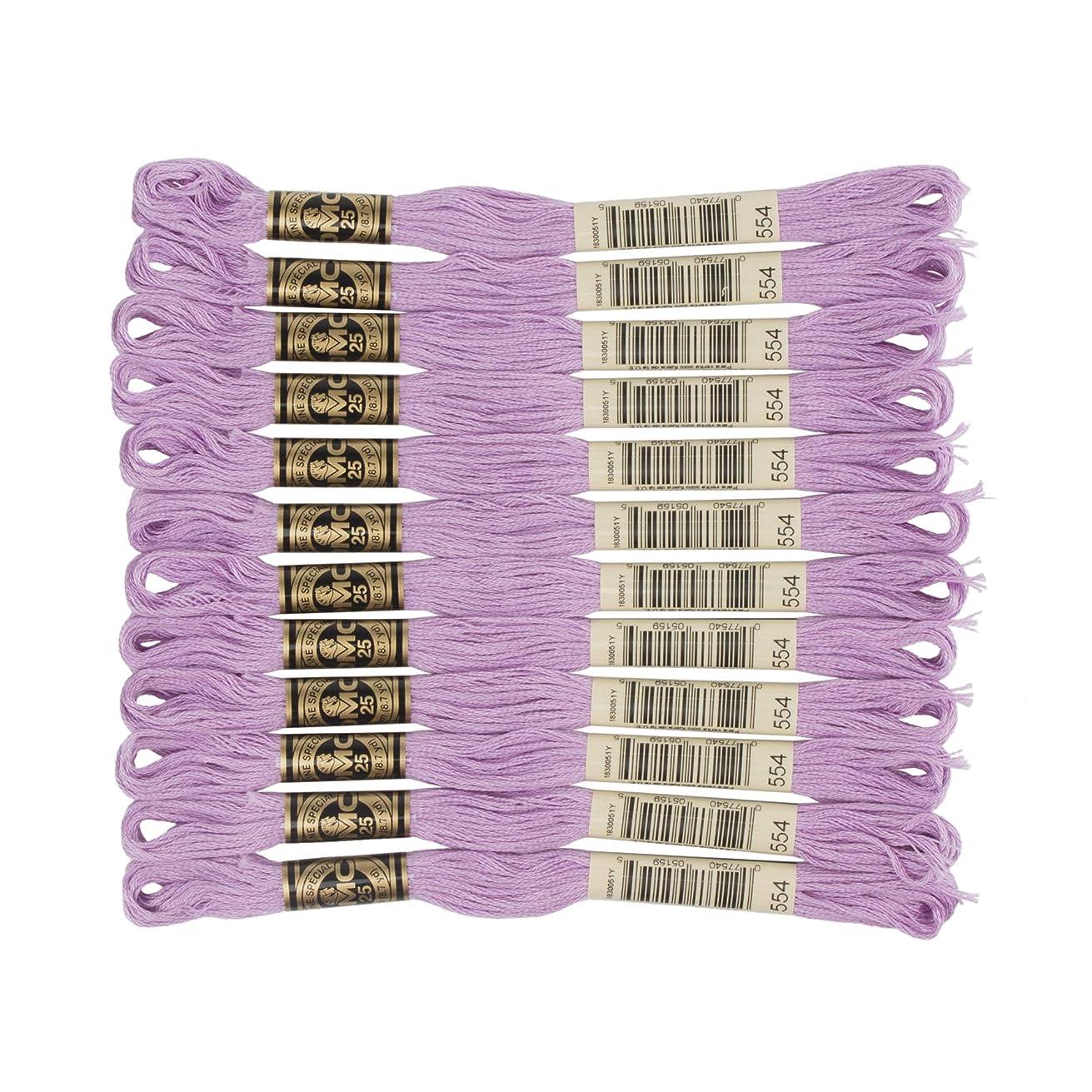 DMC 6-Strand Embroidery Cotton Floss, Light Violet