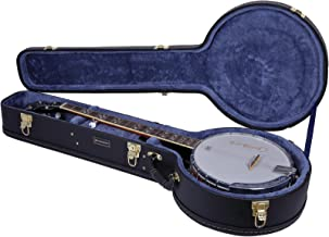 Crossrock CRW600BJBK 5 String Resonator Banjo Case, Multi-layer Wood Case, Black