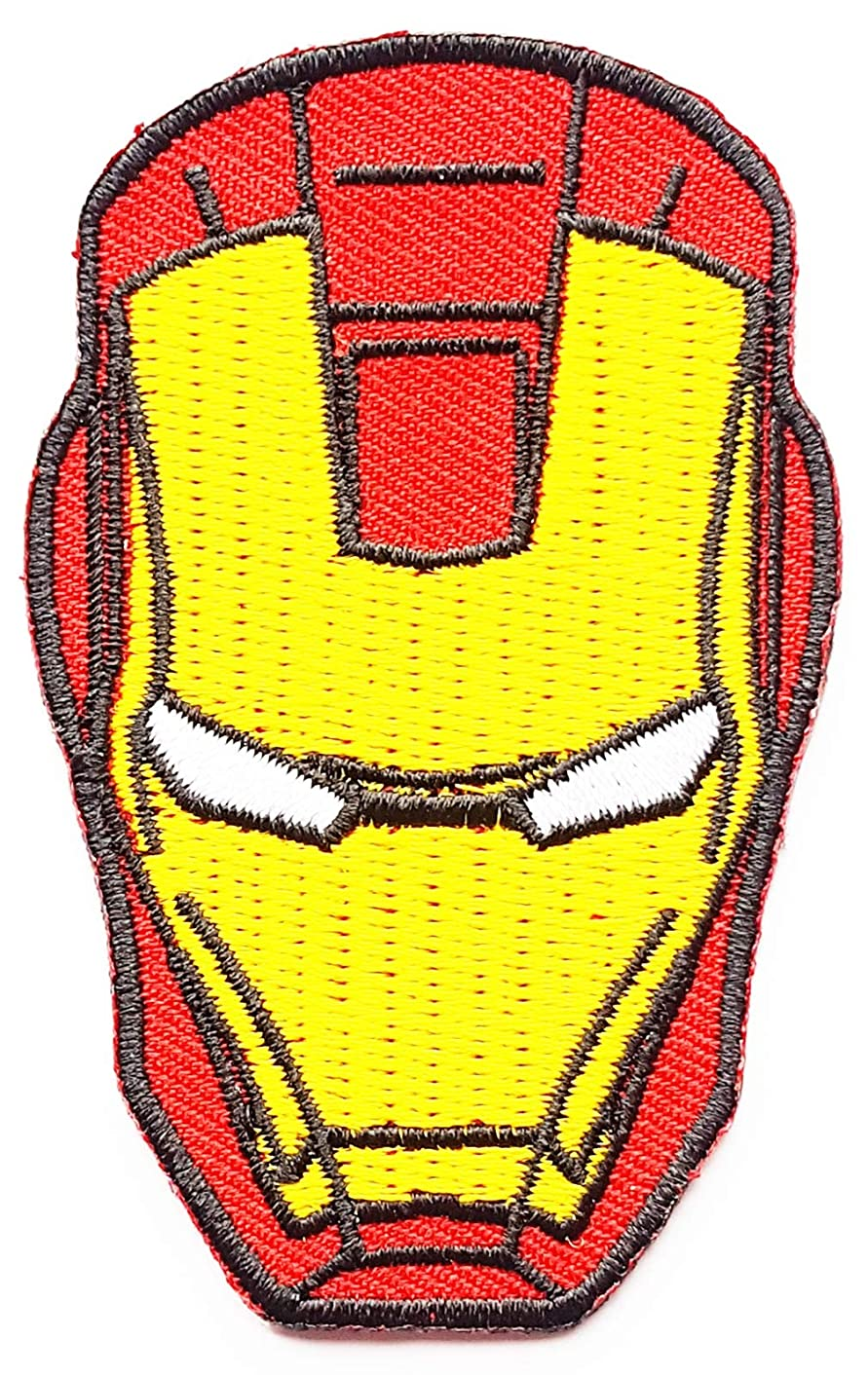 Iron Man Superhero Marvel Comics Children Kids Cartoon Patch Applique for Clothes Great as Happy Birthday Gift