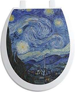 RNK Shops The Starry Night (Van Gogh 1889) Toilet Seat Decal - Round