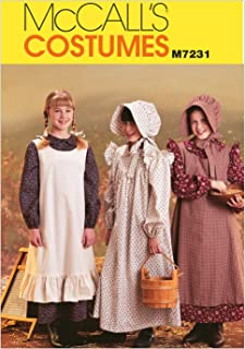 McCall's M7231 Girl's Pioneer Dress and Hat Sewing Pattern, Sizes 14-16