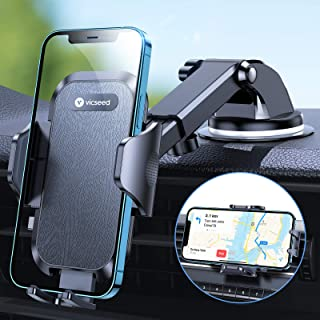 VICSEED [Multi-function] Car Phone Holder Mount, [Powerful Suction & Ultra Stable] Cell Phone Holder for Car Dashboard Win...