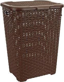 Superio Wicker Style Laundry Hamper, Brown
