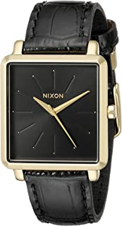 Nixon Women's A4722022 K Squared Analog Display Japanese Quartz Black Watch