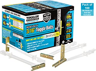 TOGGLER SNAPTOGGLE BA Toggle Anchor, Zinc-Plated Steel Channel, Made in US, 3/8
