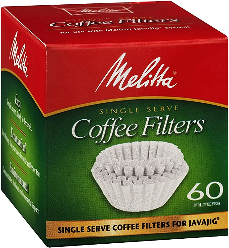 Melitta 63229 Single Serve Coffee Filters For JavaJig 60 Count