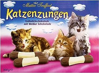 Katzenzungen Milk and White Chocolate Cat Tongues 100g Box