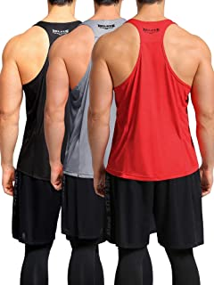 Neleus Men's 3 Pack Workout Muscle Tank Top Sleeveless Gym Dri Fit Shirt