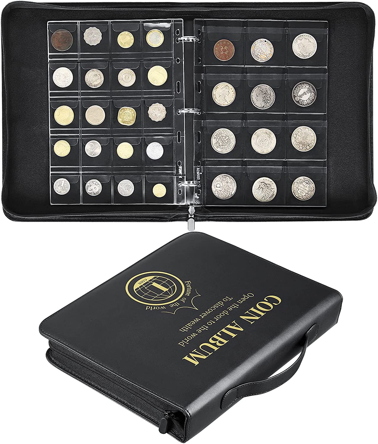 Large Opening large release sale Coin Holder for Collectors Badge Stamps Denver Mall Silver Col Dollar