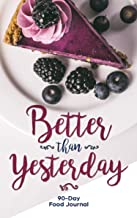 Better Than Yesterday: 90-Day Food and Exercise Journal --Changing Your Life, One Day At A Time!