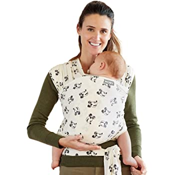 Moby Wrap Baby Carrier | Mickey Mouse | Baby Wrap Carrier for Newborns & Infants | #1 Baby Wrap | Keeps Baby Safe & Secure | Adjustable for All Body Types | Disney Baby