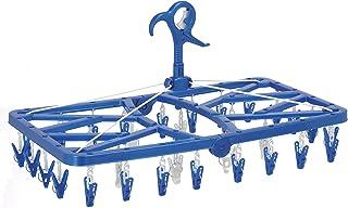東和産業 洗濯ハンガー EX2 ピンチが自由に回る 角ハンガー ピンチ32個付き